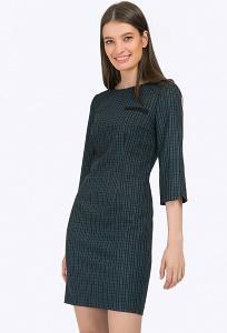 Короткое платье в клетку в деловом стиле Emka PL438/jeram
