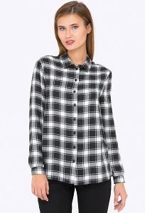 Осенняя рубашка в клетку Emka Fashion b 2224/riva