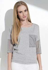 Летняя блузка с рукавами из сетки Sunwear I31-4-04