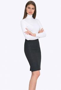 Классическая юбка-карандаш Emka S663/slate