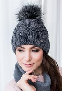 Женская шапка с отворотом Veilo 30.96