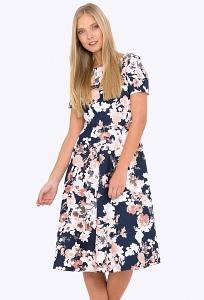 Купить летнее платье классического кроя из хлопка в интернет-магазине недорого Emka PL-683/zerin