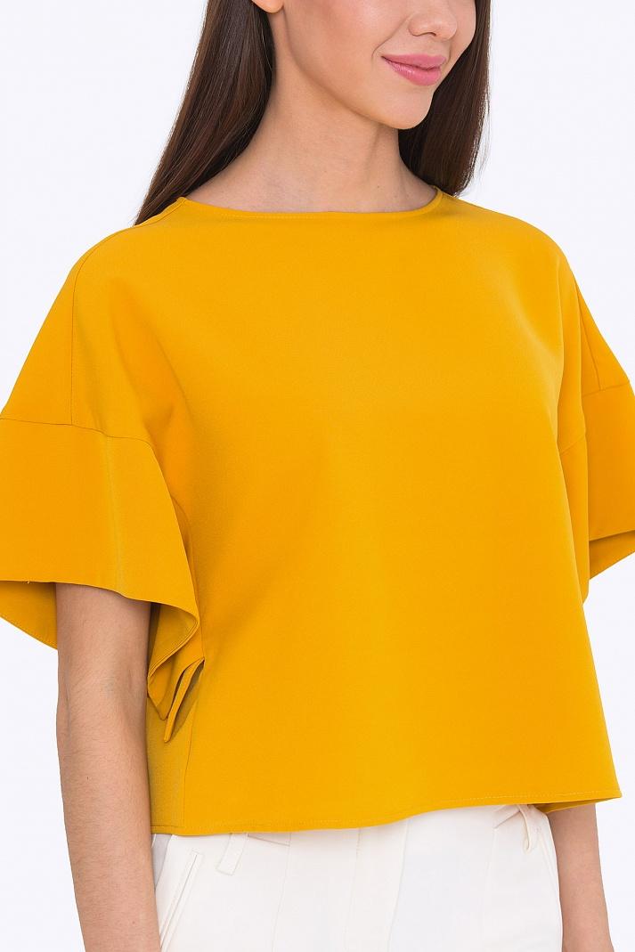 Блузка горчичного цвета