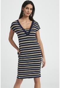 Полосатое платье из трикотажа Ennywear 250063