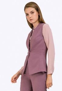 Женский офисный жилет лилового цвета Emka GL016/rovonda