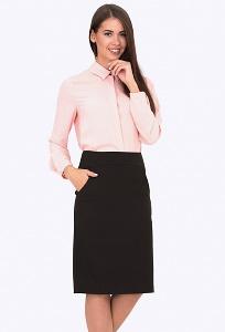 Тёмно-коричневая юбка Emka Fashion 672-elmas