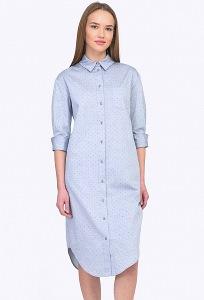 Платье-шемизье из хлопка Emka PL601/nigara