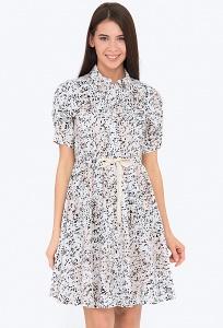 Расклешенное платье Emka PL-641/sagira