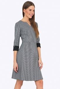 Платье в мелкую гусиную лапку Emka PL709/atmosphere