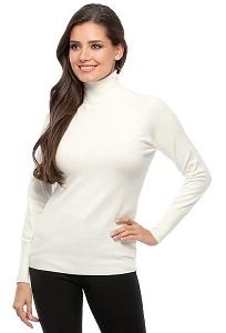 Водолазка молочного цвета Conso Wear KWTS160707