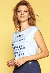 Женская летняя блузка голубого цвета Zaps Grossa