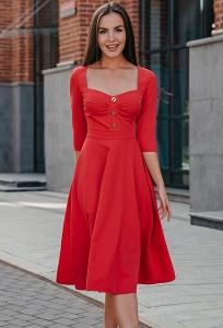 Коктейльное платье красного цвета Dona Saggia DSP-351-13
