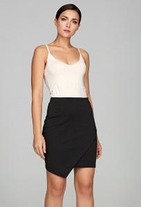 Чёрная юбка с имитацией запАха Donna Saggia DSU-36-4t