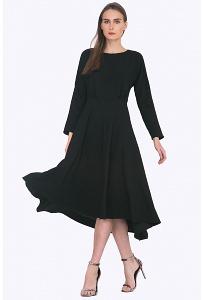 Платье приталенного кроя с асимметричным низом Emka PL706/backley