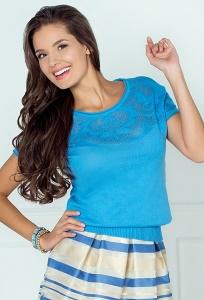 Блузка голубого цвета Andovers 205501