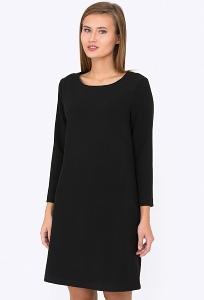 Чёрное платье Emka Fashion PL-523-1/