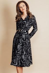 Осенне-зимнее платье Top Design B6 027