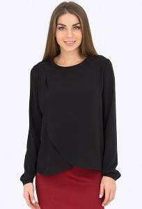 Чёрная блузка Emka Fashion 2188/amber