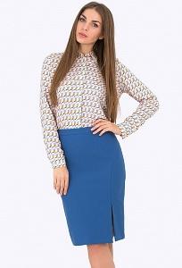 Юбка синего цвета Emka Fashion 559-vasilisa