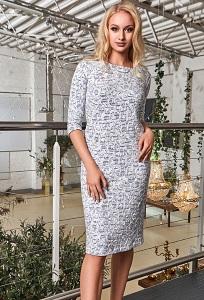 Летнее трикотажное платье TopDesign Premium PA8 01