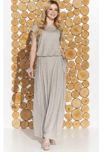 Длинное трикотажное платье с коротким рукавом Zaps Valery