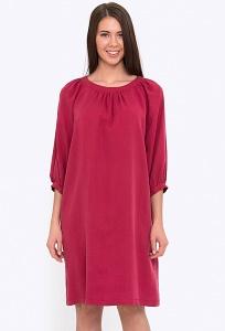 Платье А-силуэта с округлым вырезом горловины Emka PL-619/mendi