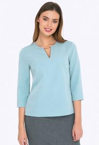 Голубая блузка с декоративной цепочкой Emka B2270/harper