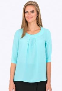 Лазурная блуза Emka Fashion b 2197/dora