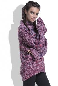 Женский свитер очень длинным рукавом Fobya F434