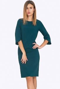 Платье прямого кроя и рукавом реглан Emka PL562/eloisa