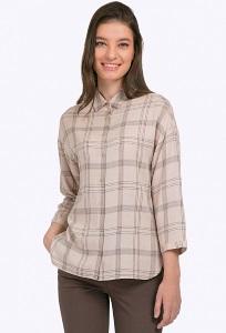 Женская рубашка в крупную клетку Emka B2346/reunion