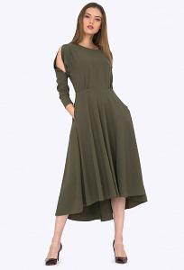 Асимметричное платье прямого кроя Emka PL706/ferrera