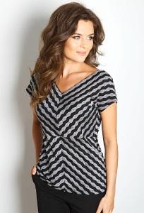 Летняя женская блуза в полоску-ёлочку TopDesign A7 023