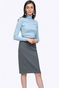 Классическая юбка-карандаш серого цвета Emka S669/slava