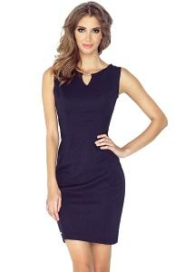 Элегантное тёмно-синее платье Morimia 005-2