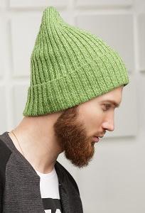 Зелёная мужская шапка SuperShapka Oriiginal Cross