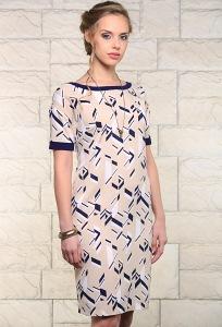 Платье с геометрическим принтом Issi 171544