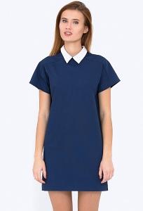 Платье с белым воротничком Emka Fashion PL-512/saveliya