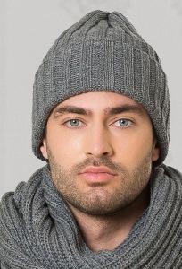 Мужская шапка графитового цвета Landre Берлин