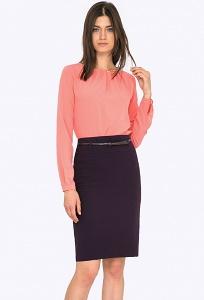 Баклажанная женская юбка Emka S202-60/arilena