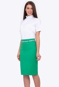 Зелёная юбка из весенне-летней коллекции Emka 202-60/sabina