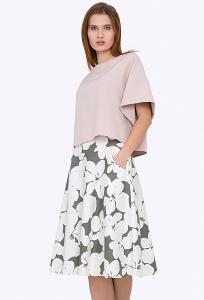 Расклешенная юбка из хлопка Emka 527/marva