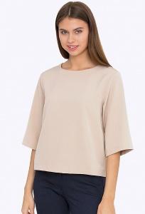 Бежевая женская блузка Emka B2239/fossil