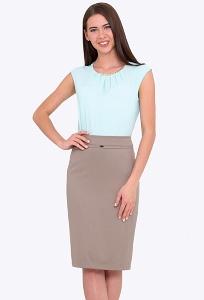 Классическая юбка-карандаш на поясе Emka 369/lidiya