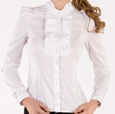 Белая Блузка С Жабо Доставка