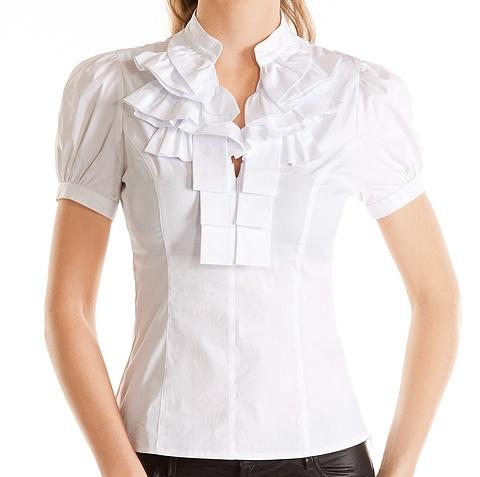 Белая Блузка С Жабо С Доставкой