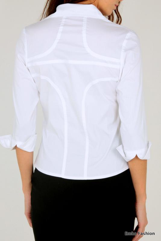Купить белую блузку офисную в Уфе