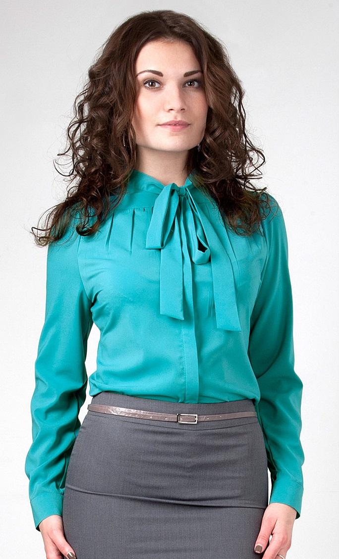 Блузки Бирюзового Цвета