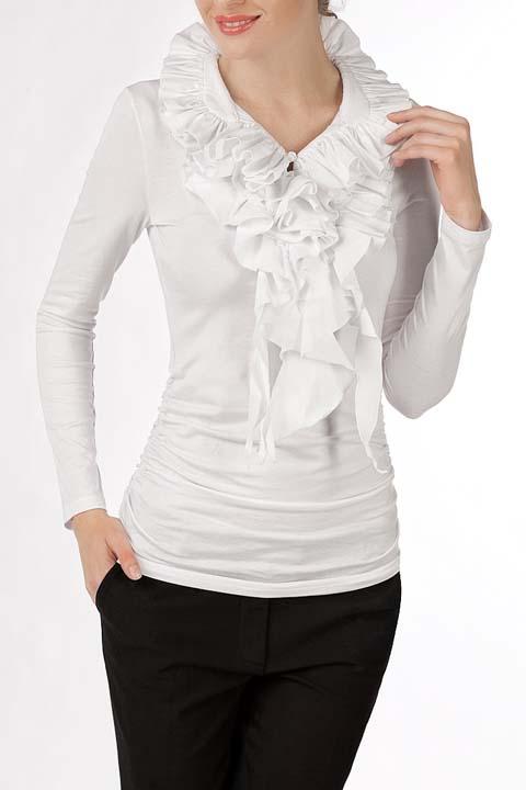 Белые Блузки С Жабо Для Девочек Турция Ahsen Вискоза