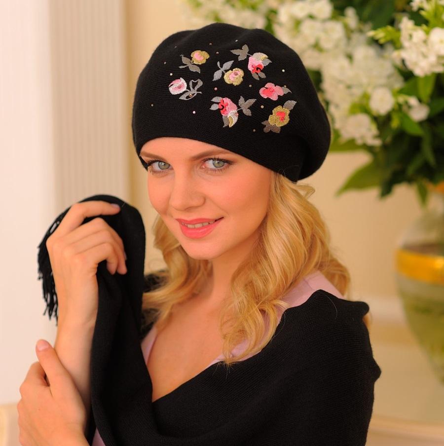 Вязаные шапки для женщин. Схемы 70